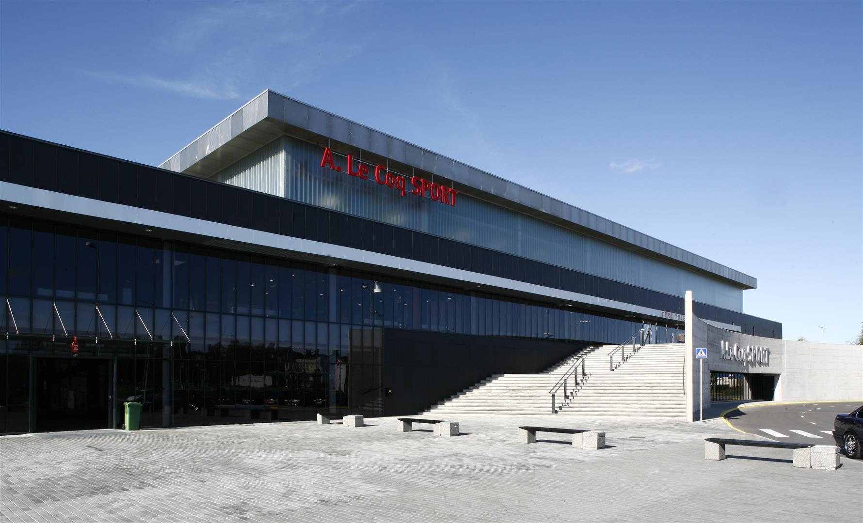 A LE COQ SPORTS HALL IN TARTU